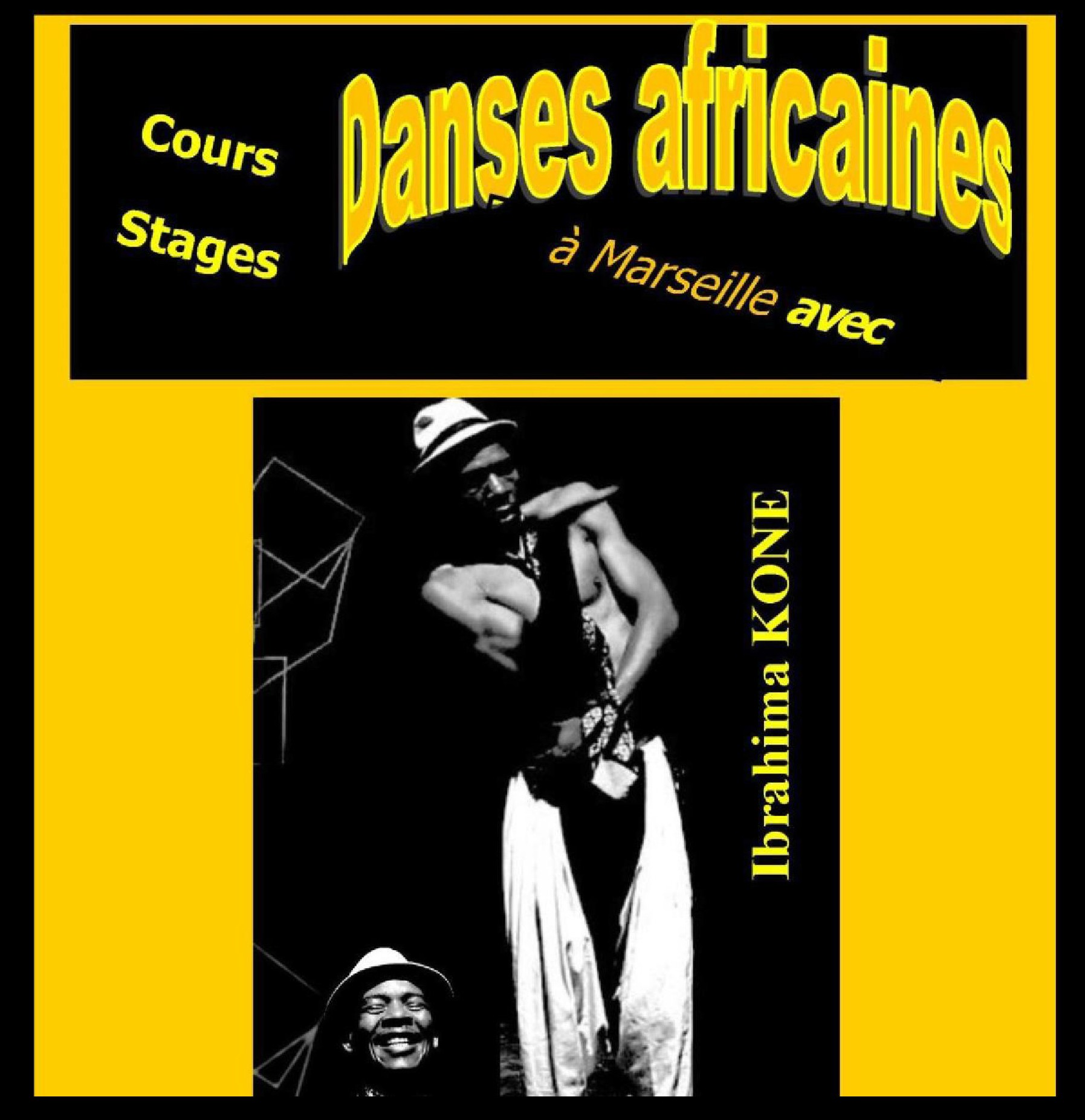 Cours et stages danses africaines avec Ibrahima KONE